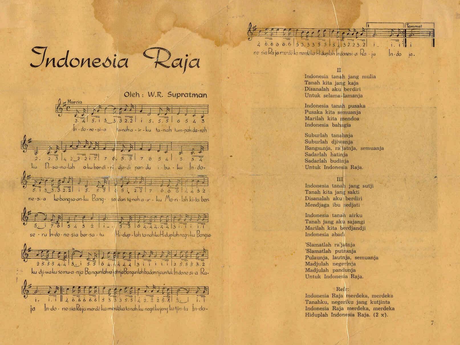 Galeri Indonesia » Lagu Indonesia Raya